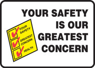MGNF534VP Your safety is our greatest concern sign