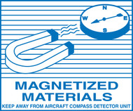 Magnetized Materials Shipping Label
