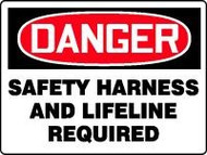 Danger Safety Harness And Lifeline Required 1