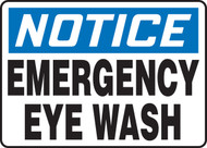 NOTICE - EMERGENCY EYE WASH sign