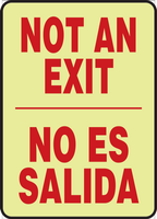 Not An Exit Sign-Bilingual Glow Sign