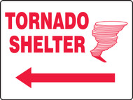 Tornado Shelter Sign MFEX519VP