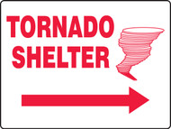 Tornado Shelter Sign MFEX518