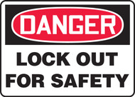 MLKT102XP Danger Lock Out for Safety Sign