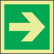 Directional Arrow - Straight IMO Sign