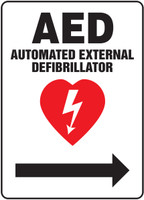MFSD419VP AED Sign Right Arrow