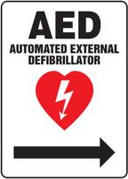 MFSD419VP AED Sign Right Arrow