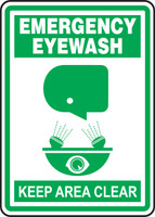 Emergency eyewash keep area clear sign MFSD518