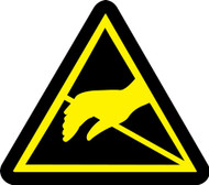 MISO340 ISO Warning safety sign- static sensitive hazard