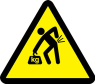 MISO308 ISO Warning safety sign- lifting hazard sign