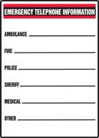 Emergency Telephone Information Ambulance ..