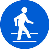 MISO128 ISO mandatory safety sign- use pedestrian route sign