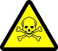 MISO334 ISO Warning Safety Sign Toxic Hazard Sign