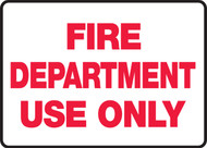 Fire Department Use Only