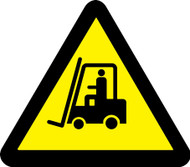MISO312 ISO Warning Safety Sign Lift Truck Hazard Sign