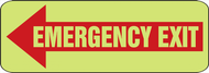 Emergency Exit Arrow Left Glow Sign