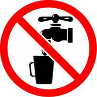 ISO Safety Sign- Not Drinking Water Image Sign
