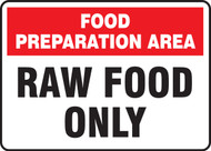 Food Preparation Area Raw Food Only