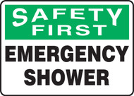MFSD953VP Emergency Shower Sign