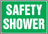 Safety Shower Sign- Green Background