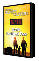 Digi Day Electronic Safety Scoreboard- Backlit LED Lite- Because Safety matters SCF210