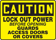 Lock Out Power Before Opening Guards Access Doors Or Covers
