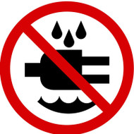 MISO508VA ISO prohibition safety sign- do not expose to water