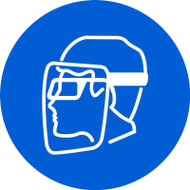 Wear Face Shield & Eye Protection ISO Safety Sign