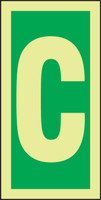 Letter C IMO Sign
