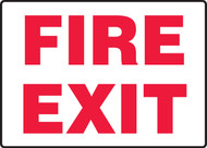 Fire Exit - Accu-Shield - 7'' X 10''