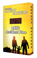 Outdoors Safety Scoreboards Digi Day Plus  Accuform SCM333