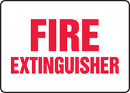 Fire Extinguisher - Plastic - 7'' X 10''