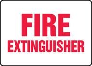 Fire Extinguisher - Adhesive Vinyl - 7'' X 10''