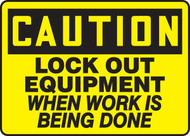 Lock Out Equipment When Work Is Being Done