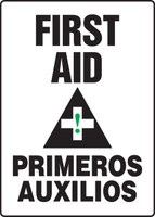 SBMFSR507VP Bilingual Spanish First Aid Sign