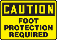 MEEEP688VP Caution Foot Protection Required Sign