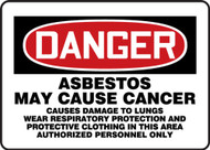 MCAW130VP Danger Asbestos May Cause Cancer Sign