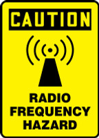 MRFQ617 Radio Frequency Hazard Sign