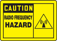 MRFQ602 Caution Radio Frequency Hazard Sign
