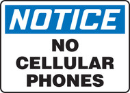 MRFQ827 Notice No Cellular Phones Sign
