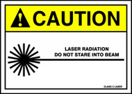 MRAD662 Caution laser radiation do not stare into beam sign
