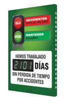 Digi Day 3 Electronic Safety Scoreboard Accuform SCK101