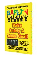 Digi Day 3 Electronic Safety Scoreboard Accuform SCK107