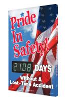 Digi Day 3 Electronic Safety Scoreboard Accuform SCK108