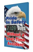 Digi Day 3 Electronic Safety Scoreboard Accuform SCK109