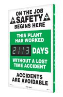 Digi Day 3 Electronic Safety Scoreboard Accuform SCK113
