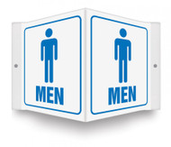 "MEN - 3D 6"" x 5"" - Safety Panel - Projection Sign"