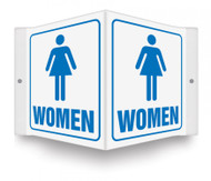 "WOMEN - 3D 6"" x 5"" - Safety Panel - Projection Sign"