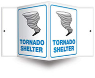 "Tornado Shelter - 3D 6"" x 5"" - Safety Panel - Projection Sign"