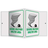 "Severe Weather Shelter Emergency - 3D 6"" x 5"" - Safety Panel - Projection Sign"